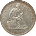Seated Dollars: , 1840 $1 AU50 ANACS. NGC Census: (14/152). PCGS Population (41/102).Mintage: 61,005. Numismedia Wsl. Price for problem free...