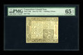 Colonial Notes:Connecticut, Connecticut June 19, 1776 Uncancelled 1s/3d PMG Gem Uncirculated 65 EPQ....