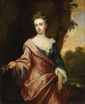 Paintings, John Zachary Kneller (German/British, 1642-1702). . Lucy Sherard . Oil on canvas. 68 x 40 inches (172.7 x 101.6 cm). ...