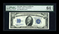 Small Size:Silver Certificates, Fr. 1701* $10 1934 Silver Certificate. PMG Choice Uncirculated 64 EPQ.. ...