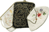 Marian Marsh's Vintage Beaded Bags. Owned and used by Marian Marsh, these vintage beaded bags include a hand-beaded blac...