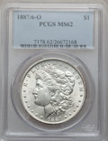 Morgan Dollars: , 1887/6-O $1 MS62 PCGS. PCGS Population (246/371). NGC Census:(155/196). Numismedia Wsl. Price for problem free NGC/PCGS c...