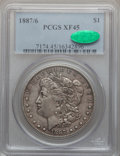 Morgan Dollars: , 1887/6 $1 XF45 PCGS. CAC. PCGS Population (5/1410). NGC Census:(3/829). Numismedia Wsl. Price for problem free NGC/PCGS c...