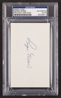 Baseball Collectibles:Others, Roger Maris Signed Index Card PSA/DNA Encapsulated. ...
