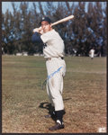 Baseball Collectibles:Photos, Joe DiMaggio Signed Oversized Photograph. ...