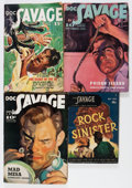 Pulps:Adventure, Doc Savage Group (Street & Smith, 1939-47) Condition: Average VG-.... (Total: 9 Comic Books)