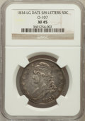 Bust Half Dollars, 1834 50C Large Date, Small Letters XF45 NGC. O-107. PCGS Population(75/326)....