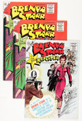 Golden Age (1938-1955):Miscellaneous, Brenda Starr #13 and 14 File Copies Group (Charlton, 1955) Condition: Average FN.... (Total: 4 Comic Books)