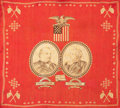 Rugs & Textiles:Textiles, A GROVER CLEVELAND PRESIDENTIAL CAMPAIGN BANDANA . For PresidentGrover Cleveland of New York, For Vice President Allen G....