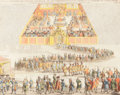 Fine Art - Work on Paper:Print, HENRI CHATELAIN (French, 1684-1743). Carte Pour Donner Une Idee Generale Du Governement D'Ecosse, 1719. Hand-colored eng...