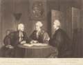 Fine Art - Work on Paper:Print, RICHARD HOUSTON (Irish, 1721-1775). End of the Irish Farce of the Catholic Emancipation , February 6, 1769. Engraving. 2...