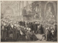 Fine Art - Work on Paper:Print, WILLIAM MILLER (British, 1740-1810). Ceremony of Administering the Oath of Allegiance on Nov. 8th, the Day Preceding Lord ...