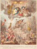 Fine Art - Work on Paper:Print, JAMES GILLRAY (British, 1757-1815). Confederated Coalition,May 1, 1804. Hand-colored engraving, lithograph. 27 x 22 inc...