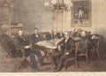 Prints, A CABINET MEETING AT THE WHITE HOUSE--PRESIDENT HAYES: A CABINET MEETING AT THE WHITE HOUSE. April 5, 1870. Engraving. 25 x ...