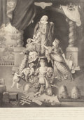 Fine Art - Work on Paper:Print, LE DERNIER MOMENT DE LA VIE DU ROY LOUIS XVI. January 2, 1786. Aquatint. 21 x 14-3/4 inches (53.3 x 37.5 cm). The Elton M....