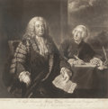 Fine Art - Work on Paper:Print, JOHN SHACKLETON (British, 1712-1767). The Right Honorable Henry Pelham, Chancellor of the Exchequer, and John Roberts, 1...