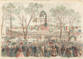 Fine Art - Work on Paper:Print, C.E.H. BONWILL (American, 19th Century) . Inauguration of Honorable Michael Hahn, Governor of Louisiana on Lafayette Squar...
