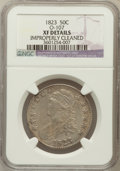 Bust Half Dollars, 1823 50C -- Improperly Cleaned -- NGC Details. XF. O-107. NGCCensus: (44/590). PCGS Population (86/620). Mintage: 1,69...
