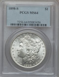 Morgan Dollars: , 1898-S $1 MS64 PCGS. PCGS Population (1156/474). NGC Census:(602/113). Mintage: 4,102,000. Numismedia Wsl. Price for probl...