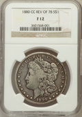Morgan Dollars: , 1880/79-CC $1 Reverse of 1878 Fine 12 NGC. NGC Census: (6/1589).PCGS Population (6/2885). Mintage: 591,000. Numismedia Wsl...