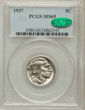 Buffalo Nickels: , 1937 5C MS65 PCGS. CAC. PCGS Population (5320/3857). NGC Census:(1835/4368). Mintage: 79,485,768. Numismedia Wsl. Price fo...