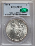 Morgan Dollars, 1898-S $1 MS65 PCGS. CAC....