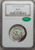 Commemorative Silver, 1938-S 50C Texas MS67 NGC. CAC....