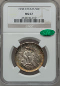Commemorative Silver, 1938-D 50C Texas MS67 NGC. CAC....