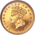 Proof Gold Dollars, 1885 G$1 PR64 Cameo NGC. CAC....