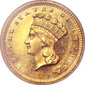 Proof Gold Dollars, 1860 G$1 PR64 Cameo NGC....