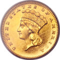 Proof Gold Dollars, 1886 G$1 PR63 Cameo PCGS. CAC....