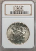 Peace Dollars: , 1926-S $1 MS65 NGC. NGC Census: (397/30). PCGS Population (586/66).Mintage: 6,980,000. Numismedia Wsl. Price for problem f...