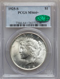 Peace Dollars: , 1925-S $1 MS64+ PCGS. CAC. PCGS Population (1736/36). NGC Census:(1625/63). Mintage: 1,610,000. Numismedia Wsl. Price for ...