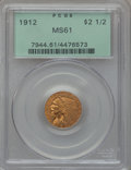 Indian Quarter Eagles: , 1912 $2 1/2 MS61 PCGS. PCGS Population (413/2335). NGC Census:(1905/4198). Mintage: 616,000. Numismedia Wsl. Price for pro...