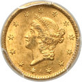 Gold Dollars, 1850-O G$1 MS62 PCGS. CAC. Variety 1....