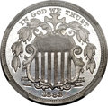 Patterns, 1882 5C Shield Five Cents, Judd-1695, Pollock-1897, Low R.7, PR65Cameo NGC....