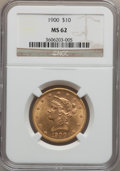 Liberty Eagles: , 1900 $10 MS62 NGC. NGC Census: (2518/2025). PCGS Population(1641/1056). Mintage: 293,960. Numismedia Wsl. Price for proble...