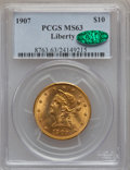 Liberty Eagles: , 1907 $10 MS63 PCGS. CAC. PCGS Population (3434/656). NGC Census:(5726/1143). Mintage: 1,203,973. Numismedia Wsl. Price for...