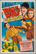 "Movie Posters:Adventure, Sign of the Wolf (Monogram, 1941). One Sheet (27"" X 41"").Adventure.. ..."