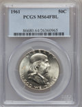 Franklin Half Dollars: , 1961 50C MS64 Full Bell Lines PCGS. PCGS Population (883/171). NGCCensus: (0/0). Numismedia Wsl. Price for problem free N...