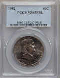 Franklin Half Dollars: , 1952 50C MS65 Full Bell Lines PCGS. PCGS Population (1019/257). NGCCensus: (259/91). Numismedia Wsl. Price for problem fr...
