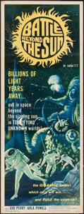 """Movie Posters:Science Fiction, Battle Beyond the Sun (Film Group, 1962). Insert (14"""" X 36"""").Science Fiction.. ..."""