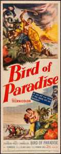 "Movie Posters:Adventure, Bird of Paradise (20th Century Fox, 1951). Insert (14"" X 36"").Adventure.. ..."