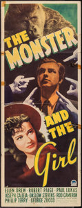 """Movie Posters:Horror, The Monster and the Girl (Paramount, 1941). Insert (14"""" X 36""""). Horror.. ..."""