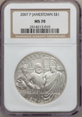 Modern Issues, 2007-P $1 Jamestown MS70 NGC. NGC Census: (4721). PCGS Population(1044). Numismedia Wsl. Price for problem free NGC/PCGS ...