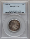 Barber Quarters: , 1909-D 25C XF40 PCGS. PCGS Population (8/334). NGC Census: (1/209).Mintage: 5,114,000. Numismedia Wsl. Price for problem f...