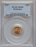 Commemorative Gold, 1917 G$1 McKinley MS66 PCGS....