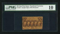 Fr. 1281 25¢ First Issue PMG Very Good 10