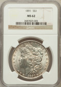 Morgan Dollars: , 1891 $1 MS62 NGC. NGC Census: (1380/3441). PCGS Population(1911/4640). Mintage: 8,694,206. Numismedia Wsl. Price for probl...