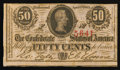 Confederate Notes:1863 Issues, T63 50 Cents 1863 PF-7 Cr. UNL.. ...